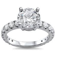 noori 18k white gold 2ct tdw round clarity enhanced diamond
