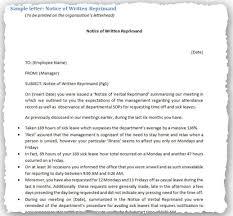 warning letter exles