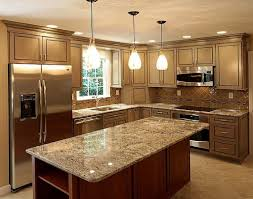 contemporary kitchen remodeling home depot baltic brown granite top counter cabinet colored glass pendant
