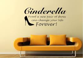 cinderella shoes text es cinderella shoes wall stickers