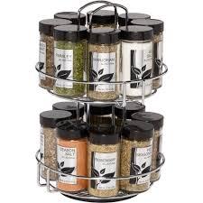 16 Jar Spice Rack Kitchen Dining Spices Storage Organization