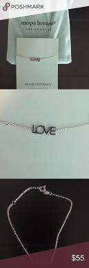 Maya Brenner Designs Love Bracelet In White Maya Brenner Love Bracelet In Silver Tone Maya Brenner Los