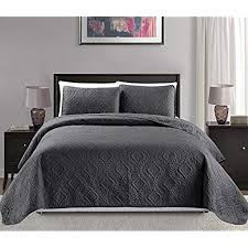 dark grey bedspread.  Dark Mk Collection KingCalifornia King Over Size 118 In Dark Grey Bedspread R