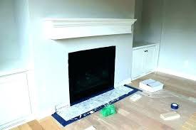 marble tile fireplace surround black facing