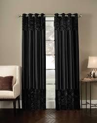 Black Patterned Curtains Magnificent Design