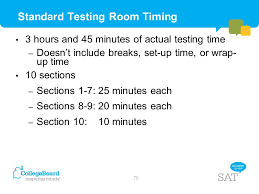 Sat Timing Chart School Day Sat Test Center Supervisor Training Ppt Download