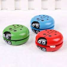 details about yoyo classic toys insect bug ladybug yoyo ball children creative wooden toy gift