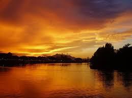 kuching msia very nice sunset
