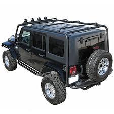 jeep wrangler 4 door black. Unique Black J020 Trail FX Black Roof Rack Jeep Wrangler 4Door Intended 4 Door C