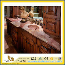 natural stone polished c red marble countertop for kitchen bathroom yqc