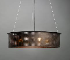 clarus exposed square cutout drum pendant by ultralights
