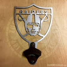raiders bo on raiders metal wall art with oakland raiders logo vintage bottle opener 1 zug monster signs