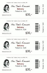 Benefit Ticket Template Ticketcreator Create Design And Print Tickets With