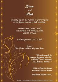 Invitation Card Sample Marriage Invitation Card Template Wedding Images In 2019