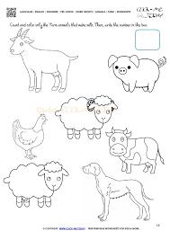 Best How Many Animals Worksheet Worksheets For Kids Farm Name R ...