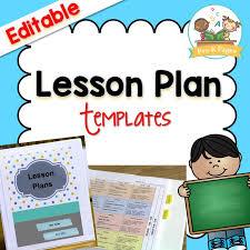 Lesson Plans Calendars Lesson Plan Template Pre K Pages