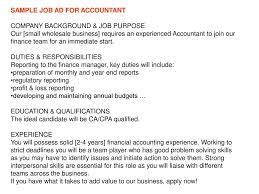 Advertising Manager Job Description Account Service Termination