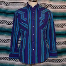 Ely Cattleman Striped Pearl Snap Shirt Medium