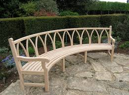 various curved garden bench in home design limelightgroup