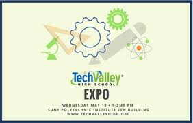 member news detail tech valley. Tech Valley High School Expo With Icons Representing Microscope, Gears, Ruler, Pencil And Member News Detail