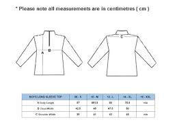 Junior Golf Size Chart Boys Long Sleeve Size Chart Quality Junior Golf Apparel