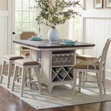 High chairs for kitchen island Bar Stools Georgetown Kitchen Island Set Wayfair Kitchen Island High Chairs 24 Wayfair
