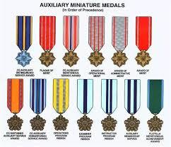 Photo Order Of Precedence Service Awards Coast Guard