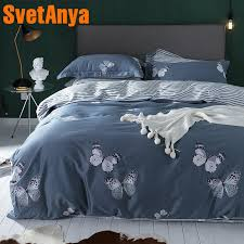 svetanya erfly print egyptian cotton bedding sets bedsheet pillowcases duvet cover set twin queen king double size gray comforter sets black and