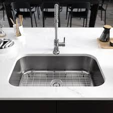 René Stainless Steel 32 L X 19 W Single Basin Undermount Kitchen