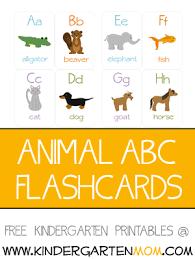 Alphabet Animals Kindergarten Mom