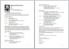Free Resume Templates Sample One Page Cover Letter Examples How