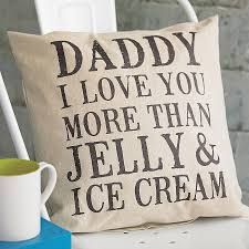 personalised daddy i love you more than cushion