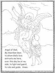 Small Picture Guardian Angel coloring Catholic Coloring Pages for Kids to