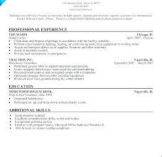 Maintenance Worker Resume Sample Professional Resume