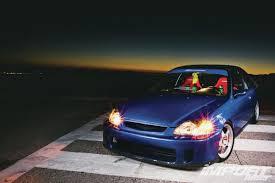 1999 Honda Civic Si EM1  Import Tuner MagazineBackyard Special Bumper