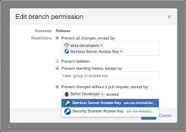 Access Key Add Access Keys To Branch Permissions In Bitbucket Server