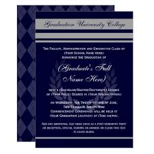 Formal College Graduation Announcements Formal College Graduation Announcements Blue