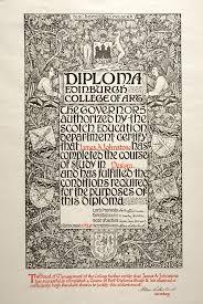 diploma of the edinburgh college of art presented to james  diploma of the edinburgh college of art presented to james alexander johnstone