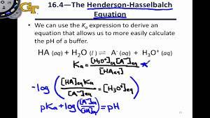 Henderson Hasselbalch 16 2 The Henderson Hasselbalch Equation