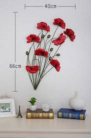 description this metal wall art is practical beautiful and generous it would make your home more bright  on bright poppies metal wall art with modern home decoration metal wall art hand made red poppy flower