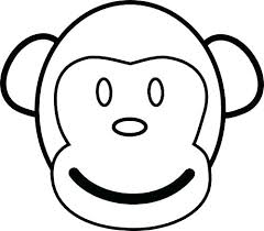 Able Monkey Coloring Pages For Toddlers S Printable Sock