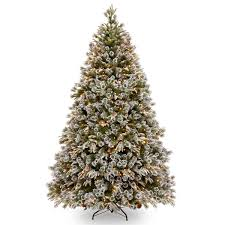 8ft Pre-lit Liberty Pine Decorated Feel-Real Artificial Christmas Tree
