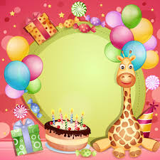 Happy Birthday Greeting Cards Kids Free Vector Download 16 054