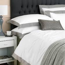 paoletti harvard border panel duvet cover set white mocha super king linens limited