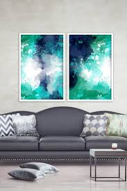 set of 2 abstract wall art print ocean blue prints artariste artdecor  on abstract wall art set of 2 with painting print set set of 2 prints abstract downloadable prints