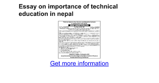 essay on importance of technical education in google docs