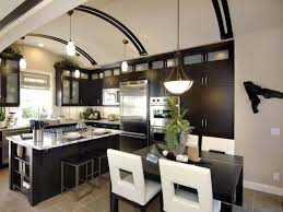 Transitional Kitchen Lighting Wonderful Transitional Kitchen Ideas With Black Chairs And Amazing