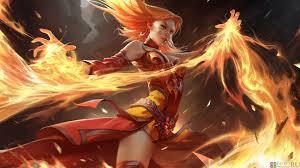 photo dota 2 lina warriors girls fantasy fire games 1920x1080