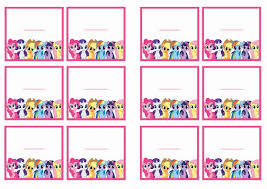 Small Picture My Little Pony Name Tags Birthday Printable