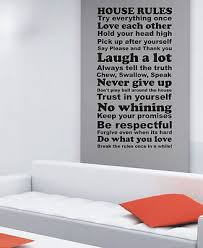 on house rules wall art suppliers with extra large house rules wall art quote sticker wa047 112cmx60cm